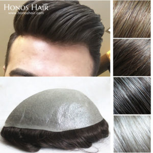 0.05mm Thin Poly Skin Hair Replacement System Multiple Colors