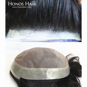 Poly Skin Front Hair Replacement System Fine Mono Base 1B