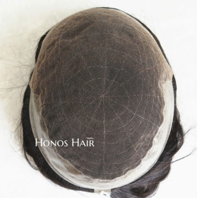 French Lace Front Skin Mens Toupee Human Hair Multiple Colors