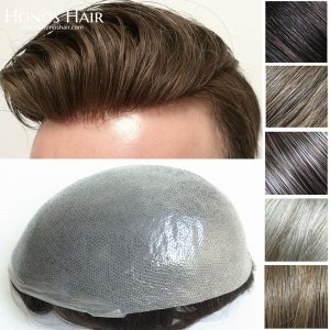 0.04mm Thin Poly Skin Hair Replacement System Multiple Colors