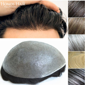 0.03mm Ultra Thin Skin Hair Replacement System Multiple Colors