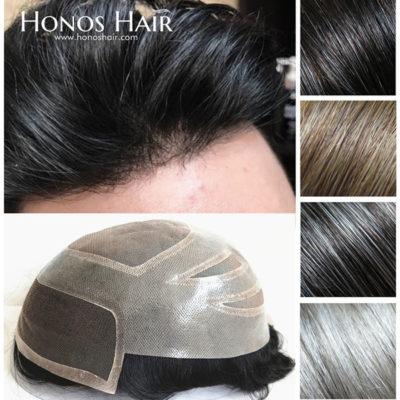 Lace Front Mens Toupee Mono Base Hair System Multiple Colors