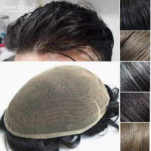Full Swiss Lace Hair Replacement System for Men Customized